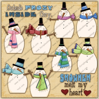 Snowman Melt My Heart ClipArt Graphic Collection