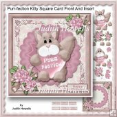 Purr-fection Kitty Square Card Front And Insert