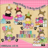Happy Birthday To Me ClipArt Graphic Collection