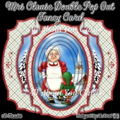 Mrs Claus Double Pop Out Fancy Card