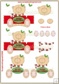Cute Merry Christmas Cracker Bear PDF Decoupage Download