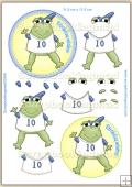 Happy Birthday Boy Froggie PDF Decoupage Download