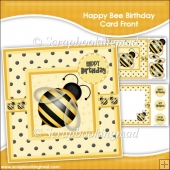 Happy Bee Card Front & Insert Panel Kit