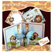 Go Wild Triple Pop Out Card