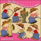 My Little Boy Cowboys ClipArt Graphic Collection