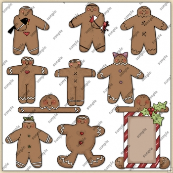 Gingy ClipArt Graphic Collection