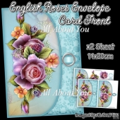 English Roses Envelope Card Front