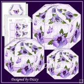 Pansy Hexagonal Gift Boxes