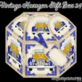 Vintage Car Hexagon Gift Box 24
