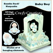 Baby Boy Gazebo Card/Keepsake