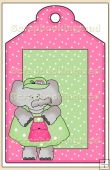 Born To Shop Gift Tag - REF_T627
