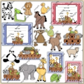 Noahs Ark ClipArt Graphic Collection