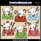 Christmas Purse Polar Bars ClipArt Collection