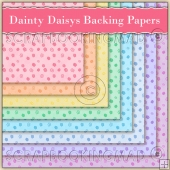 8 Dainty Daisy's Backing Papers Download (C209)