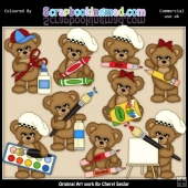 Sugar Plum Bear Little Artist EXCLUSIVE ClipArt Collection