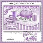 Sewing Mad Waved Card Front