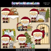 Little Santas Visit ClipArt Collection