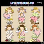 Holly My Sweet Valentine ClipArt Collection
