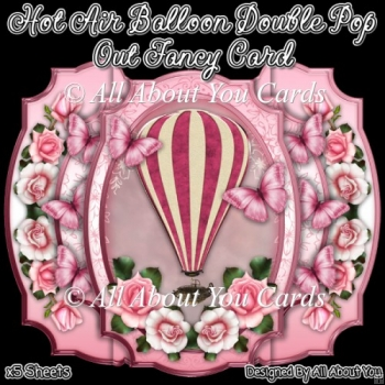 Hot Air Balloon Double Pop Out Fancy Card