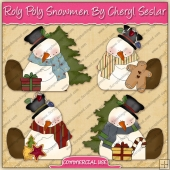 Roly Poly Snowman Graphic Collection - REF - CS