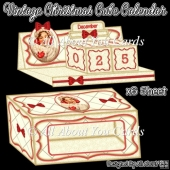 Vintage Christmas Cube Calendar and Presentation Box