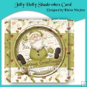 Jolly Holly Shadowbox Card