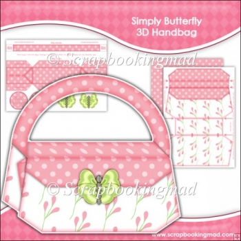 Simply Butterfly 3D Handbag