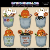 Halloween Pockets ClipArt Collection