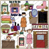 Spa Day ClipArt Graphic Collection