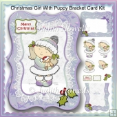 Christmas Girl With Puppy Bracket Card Kit