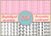 8 PNG Paper Overlays 12 x 12 Designer Resources Pack 8