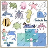 Under The Sea ClipArt Graphic Collection