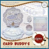 Baby Boy Fancy Scalloped Easel Card Kit