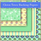 5 Clown Town Backing Papers Download (C65)