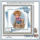 Gaming Mad Boy Offset Panels Card Front