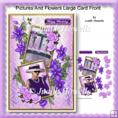 Pictures And Flowers Large Card Front