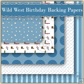 5 Have A Wild West Birthday Backing Papers Download (C152)