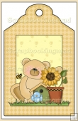 Sunflower Bears Gift Tag - REF_T596