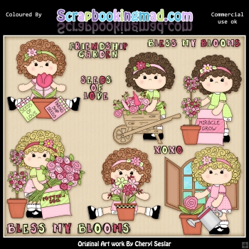 Charlotte Bless My Blooms ClipArt Collection