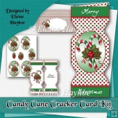 Candy Cane Cracker Card Kit