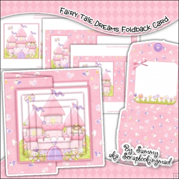 Fairy Tale Dreams Foldback Card & Envelope