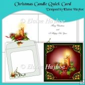 Christmas Candle Quick Card Kit