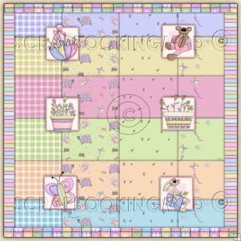 Spring Fever Backing Paper Download 107 coordinating Items