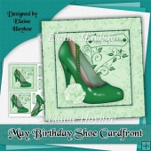 May Birthday Shoe Cardfront