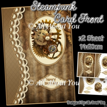 Steampunk Card Front with Decoupage Layers
