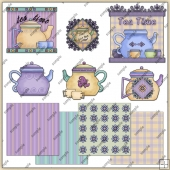 Tea Time ClipArt Graphic Collection