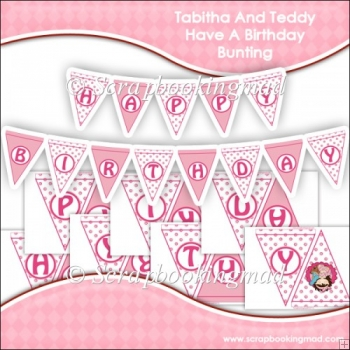 Tabitha And Teddy Have A Birthday Bunting