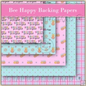 5 Bee Happy Backing Papers Download (C174)