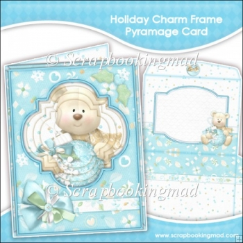 Holiday Charm Frame Pyramage Card and Envelope
