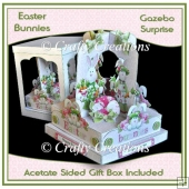 Easter Bunnies Gazebo Surprise Keepsake & Gift Box